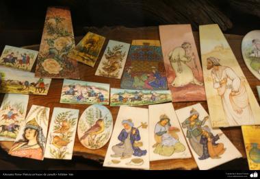 Artisanat persans - Peinture os de chameau