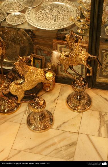 Artisanat en métal embossé Persique (Qalam Zani) - 29