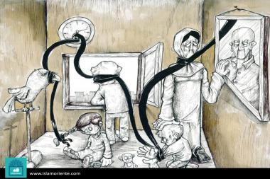Ataduras de la ausencia (caricatura)