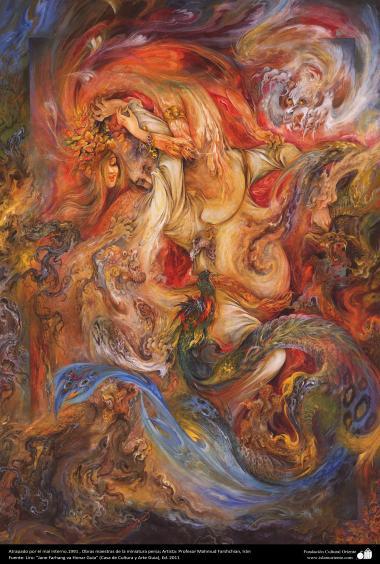 Intrappolato dal male interno – 1999. // I capolavori della miniatura persiana // Artista: Mahmud Farshchian (Iran)