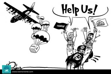Humanitarian aid (caricature)