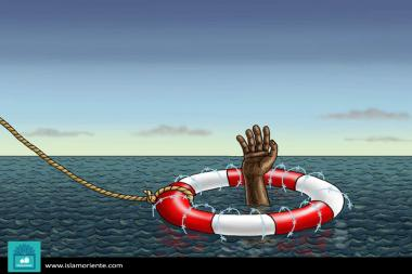 Ayuda humanitaria (caricatura)