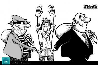 Banqueros y ladrones (caricatura)