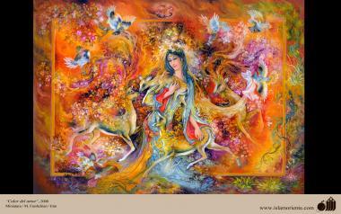 イスラム美術(マフムード・ファルシチアン画家のミニチュア傑作「愛の熱」(1899年)