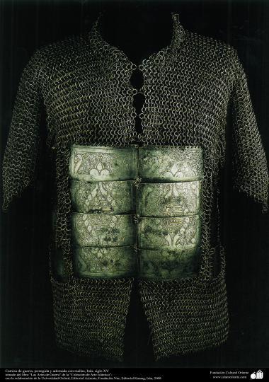 Camisa de guerra, protegida y adornada con mallas, Irán, siglo XV