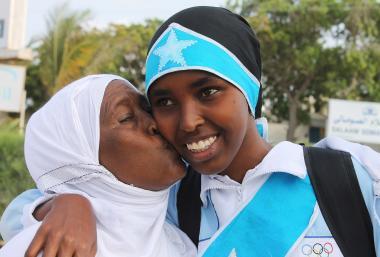 Мусульманская женщина - Спорт мусульманских женщин - Африканская мусульманская женщина - Олимпийская чемпионка