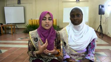 Femme musulmane - concours de beauté en Indonésie