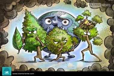 Nature bodyguards (caricature)