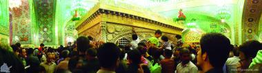 Исламское искусство - Облицовка кафельной плиткой ( Каши Кари ) - Исламская архитектура - Фасад мовзолея Имама Резы (мир ему) - Город Мешхеда , Иран