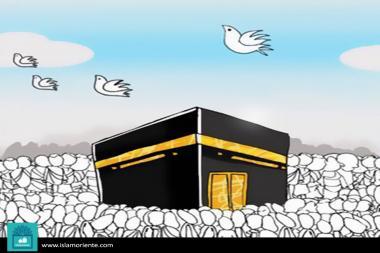 El Hajj y la administración de Al Saud (caricatura)