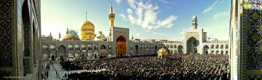 The collective worship at the shrine of Imam Rida (P), city of Mashhad