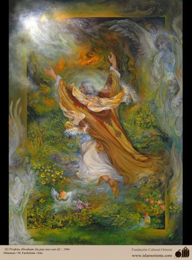 El Profeta Abraham (P)- Pintura Persa- Farshchian