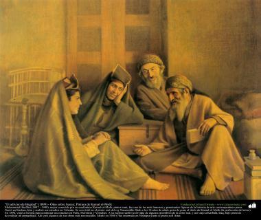 """""""O adivinho de Bagdá"""" (1899) - Óleo sobre tela; Pintura de Kamal ol-Molk"""