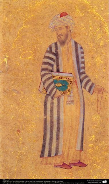 """""""Der Ascet"""" - Miniatur aus dem Buch """"Muraqqa-e Golshan"""" - 1605 und 1628 n.Chr. - Islamische Kunst - Persische Miniatur"""