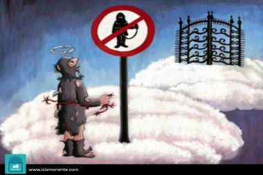 Caricatura - Nos céus e na terra