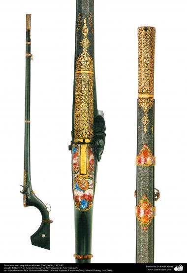 Escopetas con exquisitos adornos, Sind, India, 1835 dC. (111)