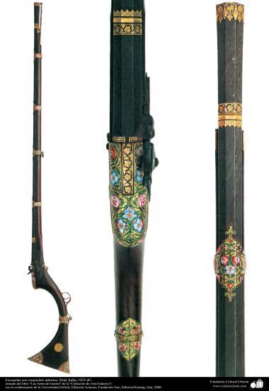 Escopetas con exquisitos adornos, Sind, India, 1835 dC.(12)