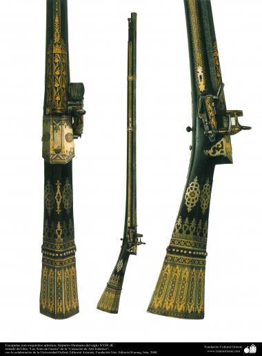 ادوات القديمة للحرب والزخرفية - بنادق خرطوش الجمیل - العثماني في القرن الثامن عشر