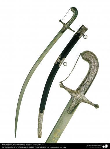 Военные и декоративные инструменты - Декоративная сабля с каллиграфией - Османская империя - В 1863 г.н.э