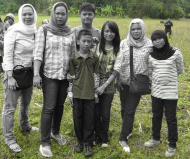 Familia musulmana del sureste asiático