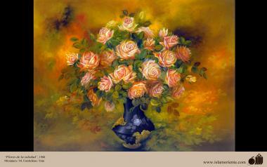 Flores de la soledad- Pintura Persa- Farshchian - 2