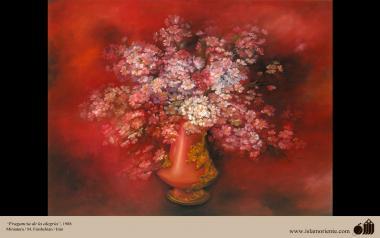 Fragância da Alegria, 1988. Miniatura. M. Farshchian - Irã