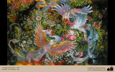 Duft der Liebe - Frische Malerei - Farshchian/Iran - Miniaturen von Prof. M. Farshchian - Bilder