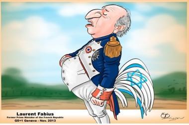 イスラエルの同盟国としてイランと六カ国との交渉を防止しているフランス(漫画)