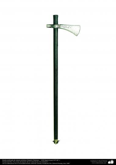 Gli antichi attrezzi bellici e decorativi-L'ascia di guerra-Impero ottomano-1028 E.L-1619 d.C