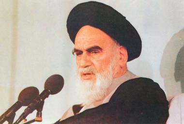 Imam Khomeini discursando