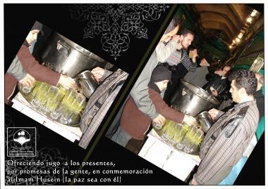 Viele Menschen machen Versprechungen wegen ihrer Liebe zu Imam Huseyn (a.s.), wie das Stillen der Durst und den Hunger der Menschen - Foto