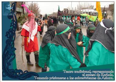 Theatralische Aufführung während Aschura Zeremonien - Imam Huseyn (a.s.) - Foto