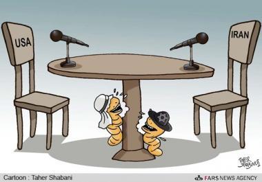 Caricatura: la relación entre Irán y Estados Unidos