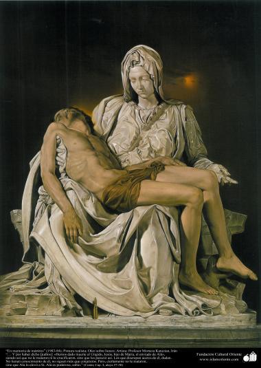 """Jesucristo"" - ""En memoria de los mártires"" (1983-84); Pintura realista; Pintor: Profesor Morteza Katuzian, Irán"