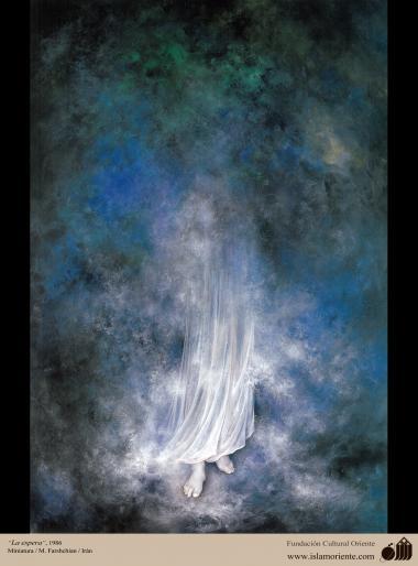Waiting - persian painting - Farshchian