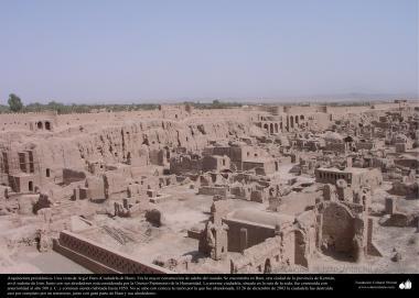 イスラム前の建築(ケルマーン州におけるアルゲ・バム(バム城塞)-これは、紀元前500年に建築された城塞で、世界的に最大の日干しの建物である) - 40