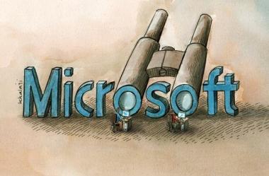 Auch Microsoft spioniert seine Nutzer aus - Karikatur - Bilder
