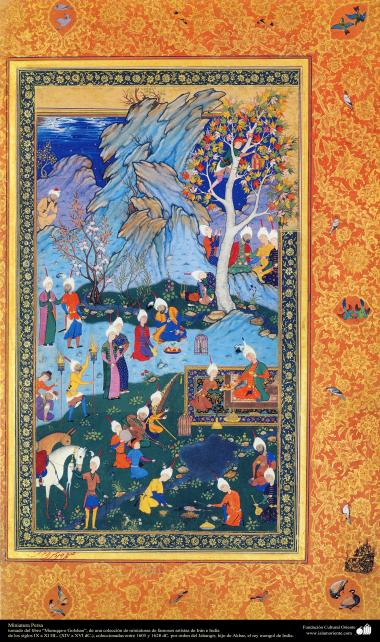 "Persian miniatures of the Book ""Muraqqa-e-Golshan - 1605 and 1628 AD."