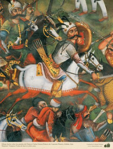 イスファハン市における四十柱宮殿のミニチュア ・壁画  (11)