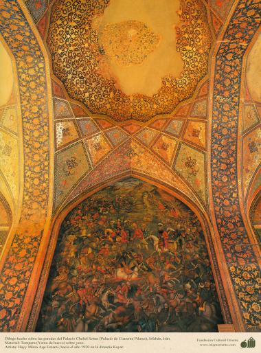"Miniatura,Dipinto sulla parete-""Chehel Sotun(Palazzo di Chehel Sotun),Isfahan,Iran-14"