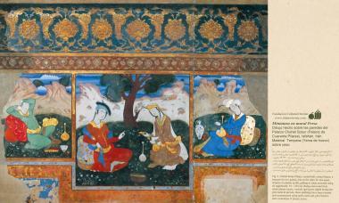 "Miniatura,Dipinto sulla parete-""Chehel Sotun(Palazzo di Chehel Sotun),Isfahan-21"