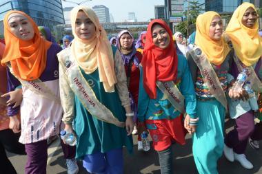 Le donne musulmane e la sfilata di moda-Miss World musulmana 2013