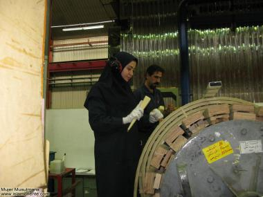 Muslim woman and work - Muslim women working in the factory - 221