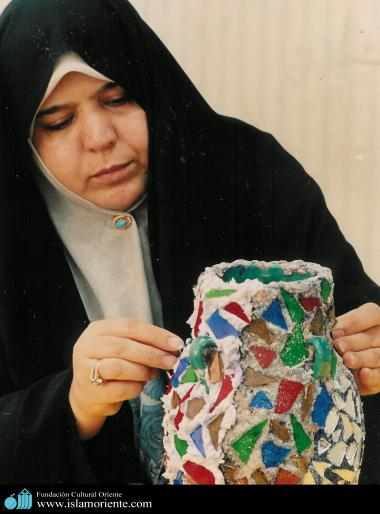 Muslim Woman and Handicrafts
