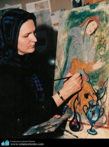 Mulher muçulmana e a arte - 3