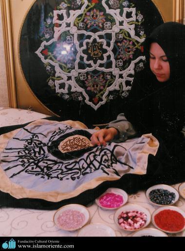 イスラム教の女性の芸術活動(工芸作業)