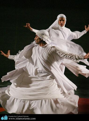 Islâmismo e a artre - Bailarino e bailarina muçulmanos