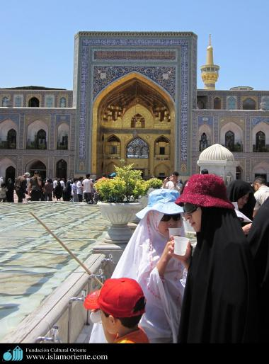 Muslim Woman visiting the Holy Shrine of Imam Reza (8th Imam of Shiah Muslims)