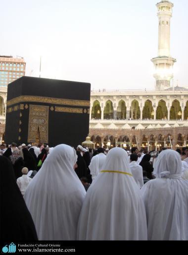 Mulheres muçulmanas no Haj, a prerigrinação que todo muçulmano deve fazer uma vex na vida