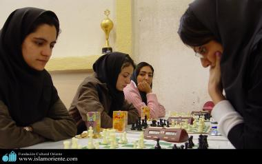 Iranian muslim women on National Chess Competition